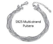 S925 Multi-strand Pulsera