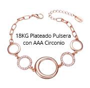 18KG Plateado Pulsera con AAA Circonio